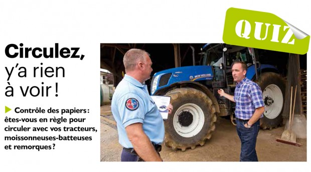 Votre engin agricole peut il circuler sur la route entraid for Permis agricole