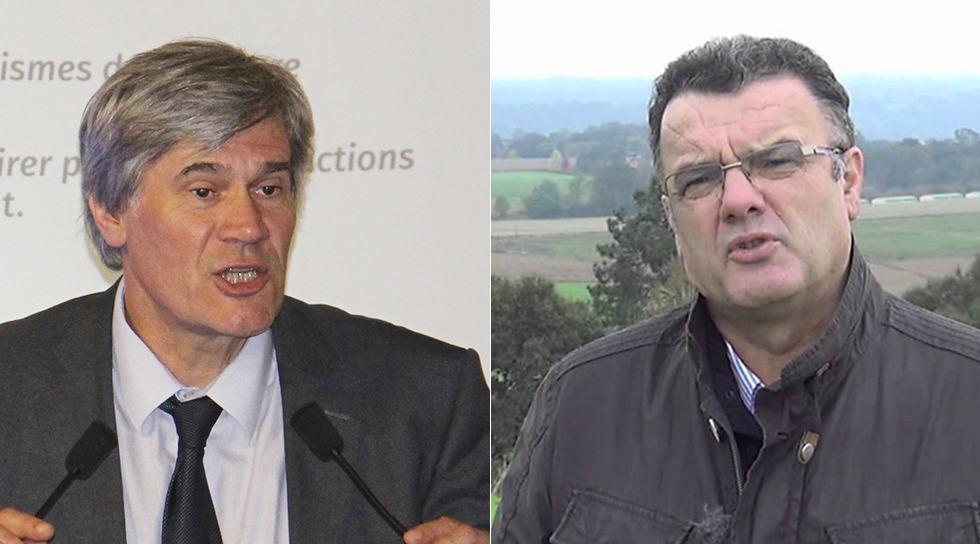 Le ministre Stéphane Le Foll et Michel Prugue de Coop de France