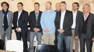 Les membres de Donagri autour de William Servat, rugbyman et parrain de cette fondation de solidarité pour les ruraux accidentés professionnellement