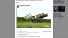 Recolte chanver tracteur claas xerion