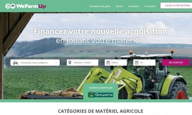 wefarmup location materiel agricole machinisme