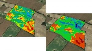 carte conductivite irrigation