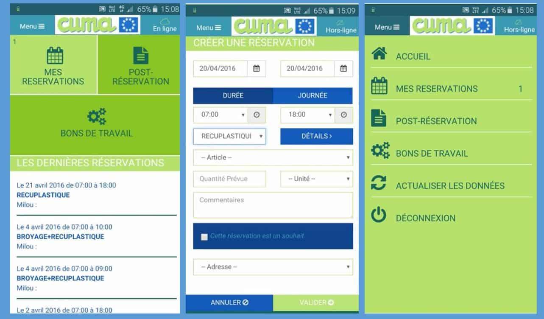 Mycuma planning et travaux, conçu par le GIE Informatique cuma, est désormais disponible !