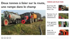 Entraid video web tv agricole materiels machinisme tracteurs ensileuses lisier epandage sans tonne moissonneuse