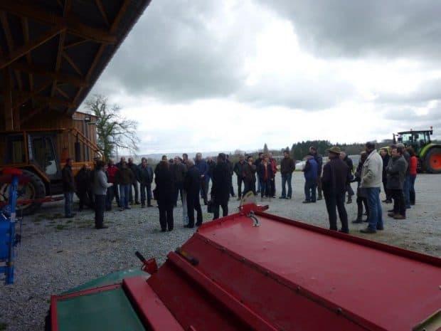 Inauguration du bâtiment-atelier au terme de l'assemblée générale de la cuma d'Ahun