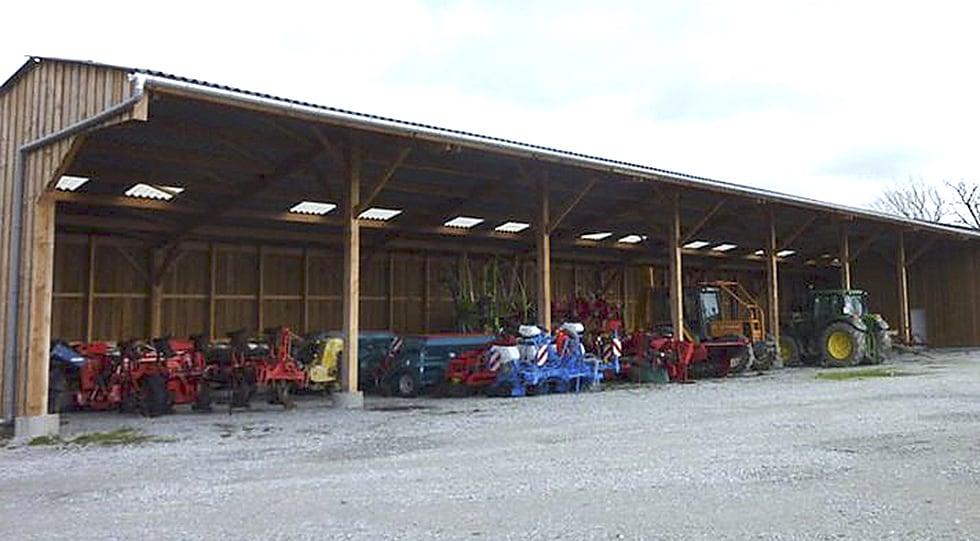 Coop ration originale pour le b timent atelier d 39 ahun entraid - Construction hangar agricole ...