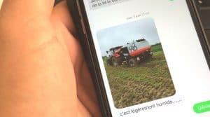 téléphone au volant agriculture agricole