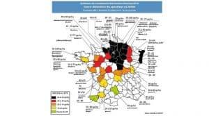 carte de France moisson 2016