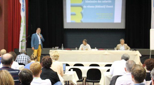 Jean-Marie Séronie est intervenu lors du séminaire des salariés du réseau cuma Ouest