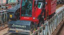 Incisif. Le système de reprise par coupe du silo pour alimenter un tapis convoyeur se retrouve dans la nouvelle édition de la Silotrac. Dans la version 17m3, le bloc scie + rouleau ameneur se déplie jusqu'à 6m.