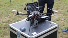 Un drone en démonstration à PotatoEurope les 14 et 15 septembre dans l'Aisne.