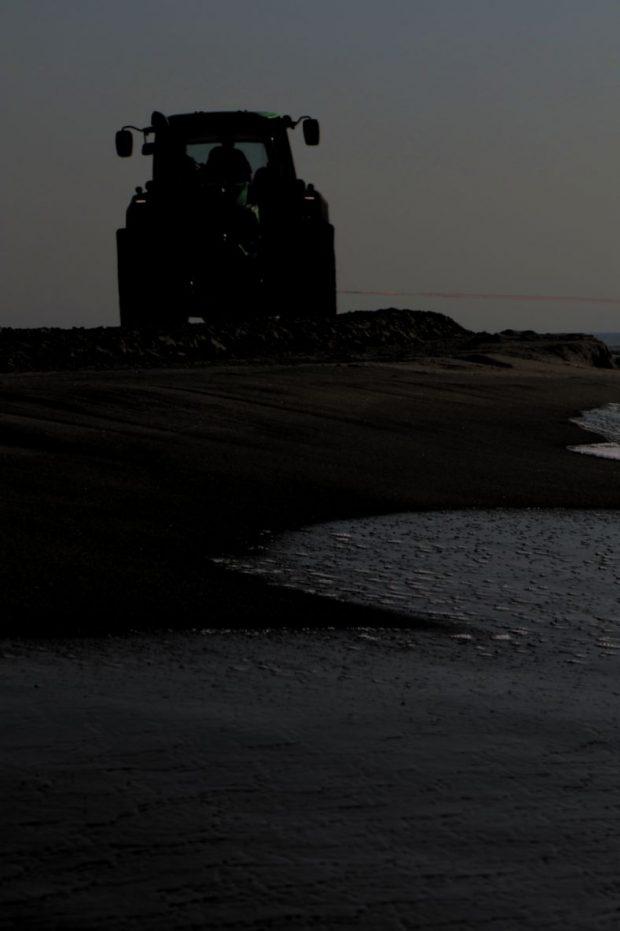 Essai tracteur plage port saint louis du rhone wake board Lucas Langlois