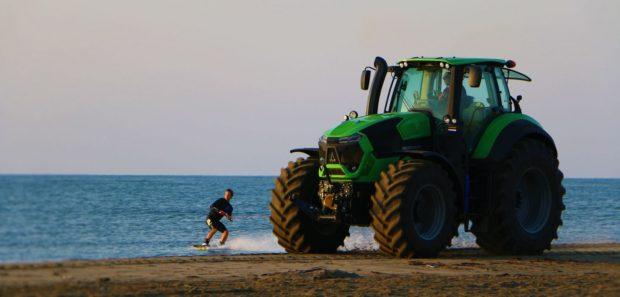 reportage video tracteur wakeboard serie 9 deutz fahr Lucas Langlois