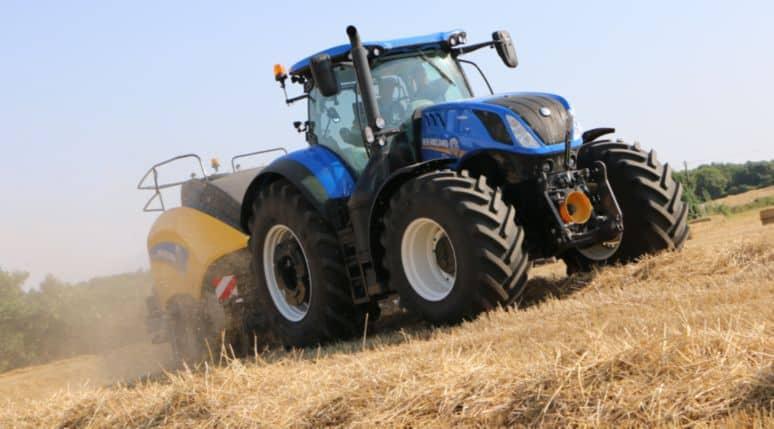 Essais tracteur presse new holland big baler