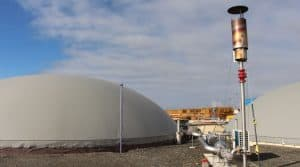 Le site de production d'énergie à Martigné-Ferchaud
