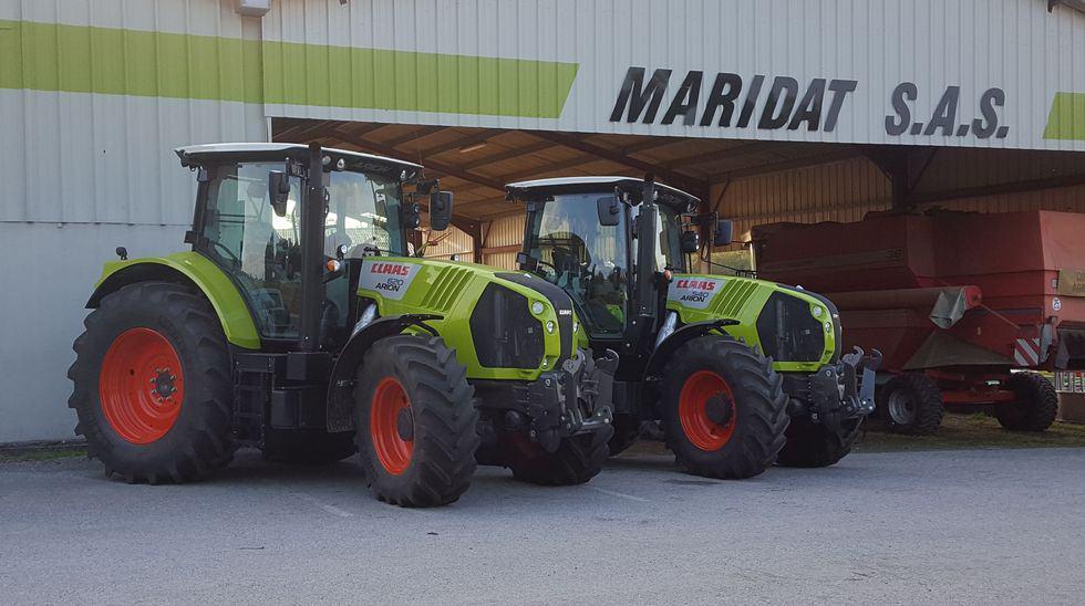 Tracteur, 4 cylindres, 6 cylindre, Claas, Arion, Cuma, La Mazelle, Gaec, Haute-Vienne