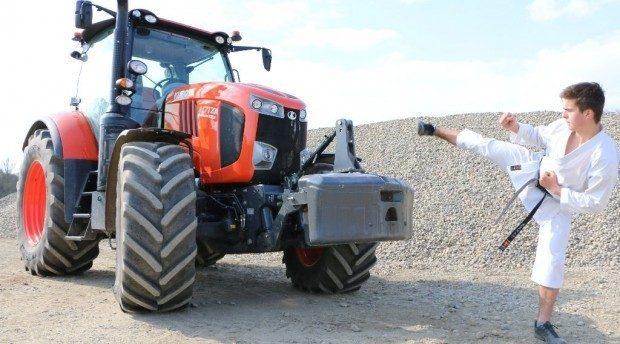 Essai tracteur Kubota M7 171 : pas besoin d'une ceinture noire pour le dompter