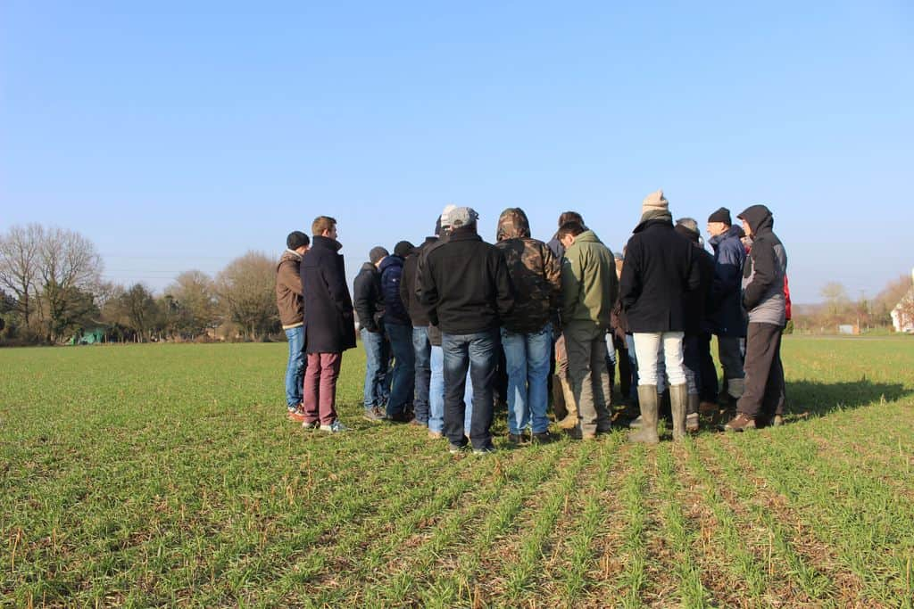 groupe agriculteurs formation semis direct