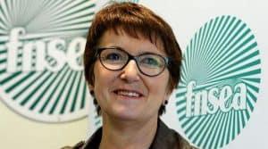 Christiane Lambert est une éleveuse énergique en passe de devenir la première femme à prendre la tête de la FNSEA, premier syndicat agricole français. Photo Eric Piermont / AFP.