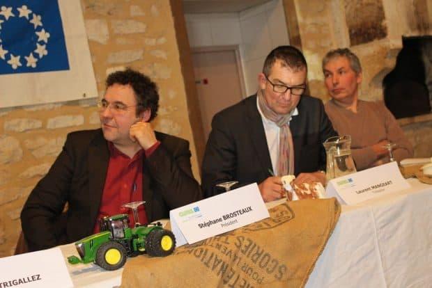 De g. à d. Stéphane Brosteaux, président, Laurent Mangeart, trésorier et Luc Duthoit, vice-président.