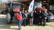 Réception des deux premiers tracteurs pour la cuma de Montvendre.