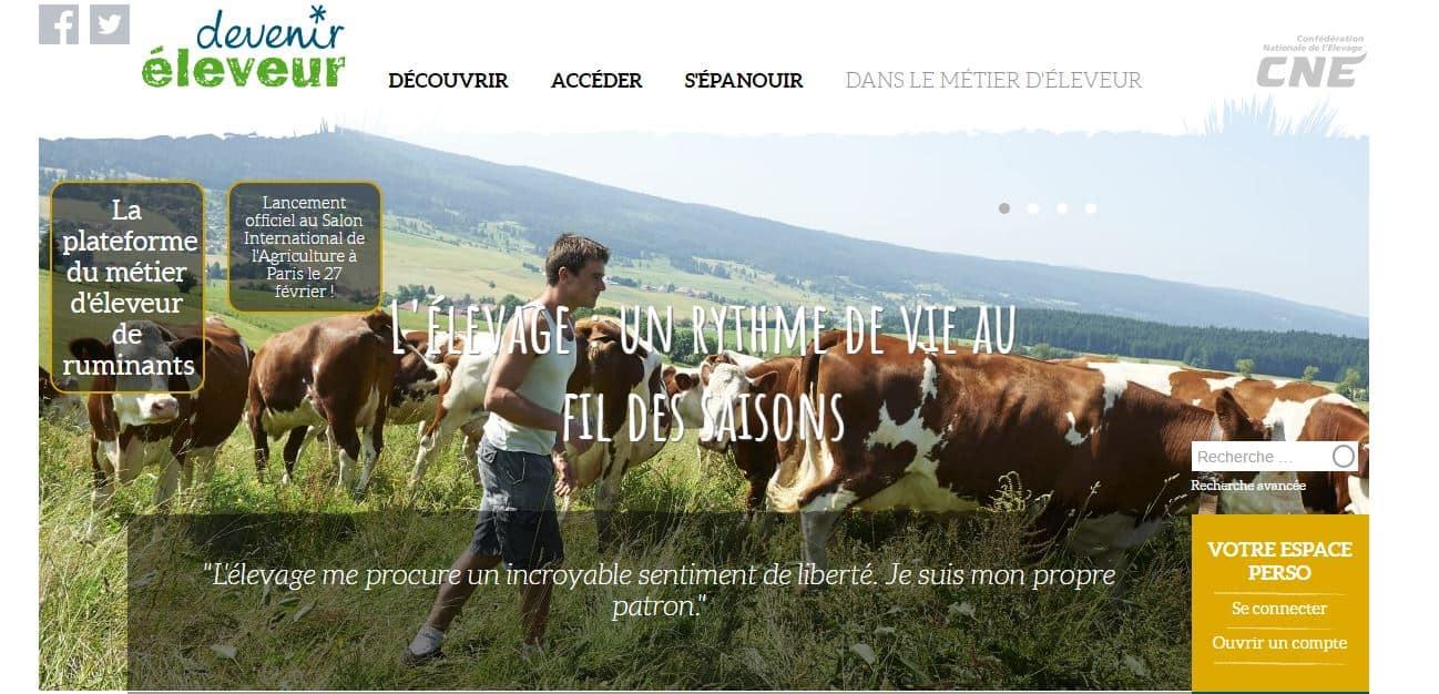 Le site devenir éleveur, une plateforme collaborative qui révèle tous les atouts du métier.