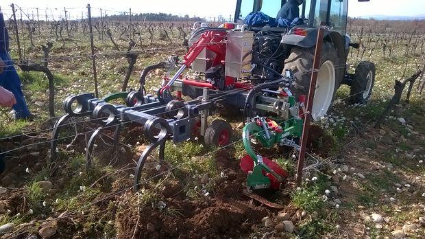 alpes de hautes provence, viticulture désherbage mécanique