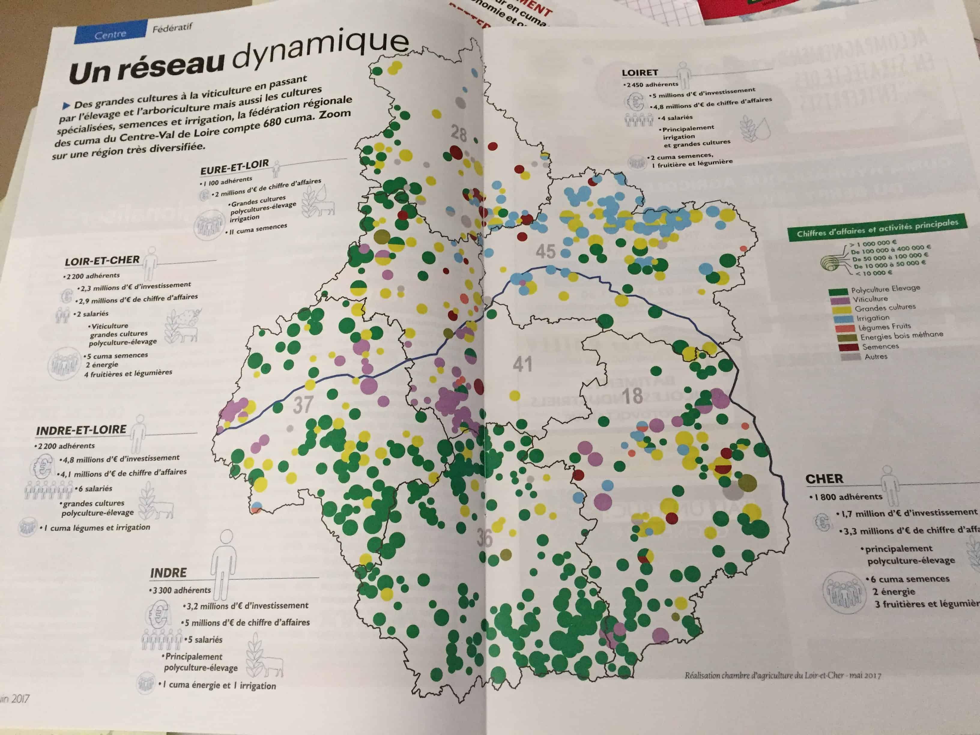 Carte chambre agriculture centre val de loire juin 2017 for Chambre agriculture indre et loire