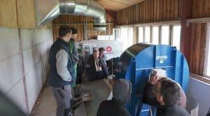 La cuma de Pollionnay porte un projet collectif de développement des cultures de légumineuses. En début d'année, le groupe visitait des séchoirs collectifs déjà en fonctionnement. Il sera l'un des témoins du forum.