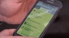 saisie sur smartphone