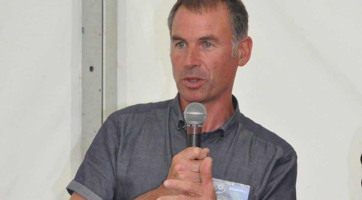 Christophe Perraud, secrétaire générale de la fédération nationale des cuma, intervenait sur le thème de l'ubérisation agricole.