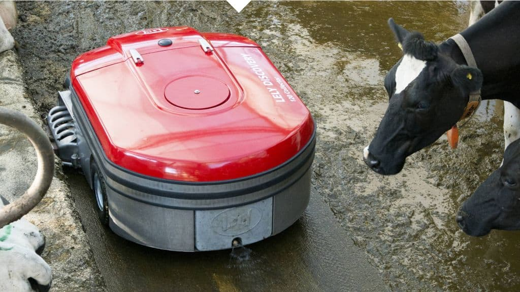 Lely Discovery 120 Collector, lisier, aspirateur, sanitaire, nettoyage, élevage bovin