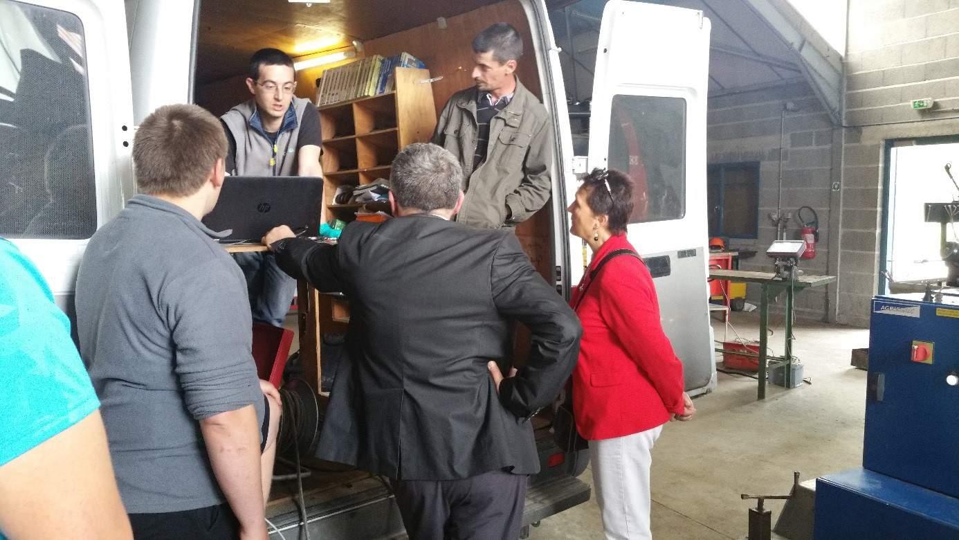 Fabrice Maitrot a réalisé  des  bancs d'essais moteurs. Ce travail a suscité beaucoup d'intérêt  auprès du jeune public mais aussi des adultes.