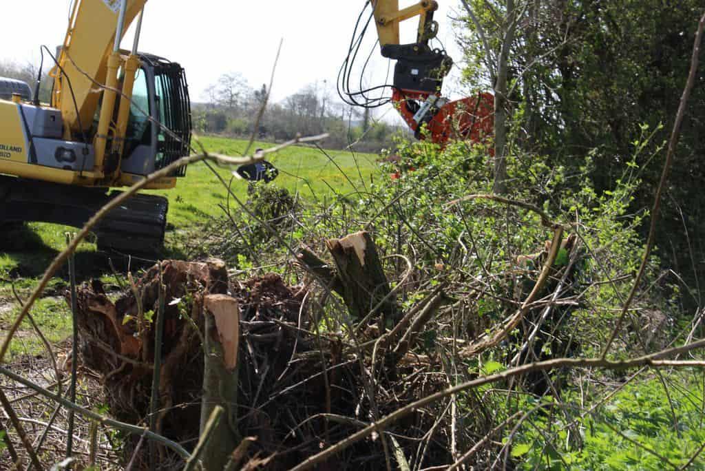 chantier bois haie bocagère entretien pince sécateur mécanisation bois énergie (10)
