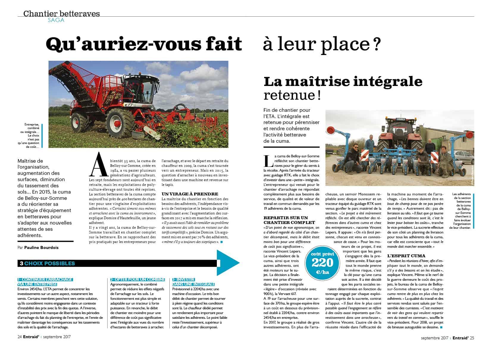 Media des cuma Entraid Gestion agricole