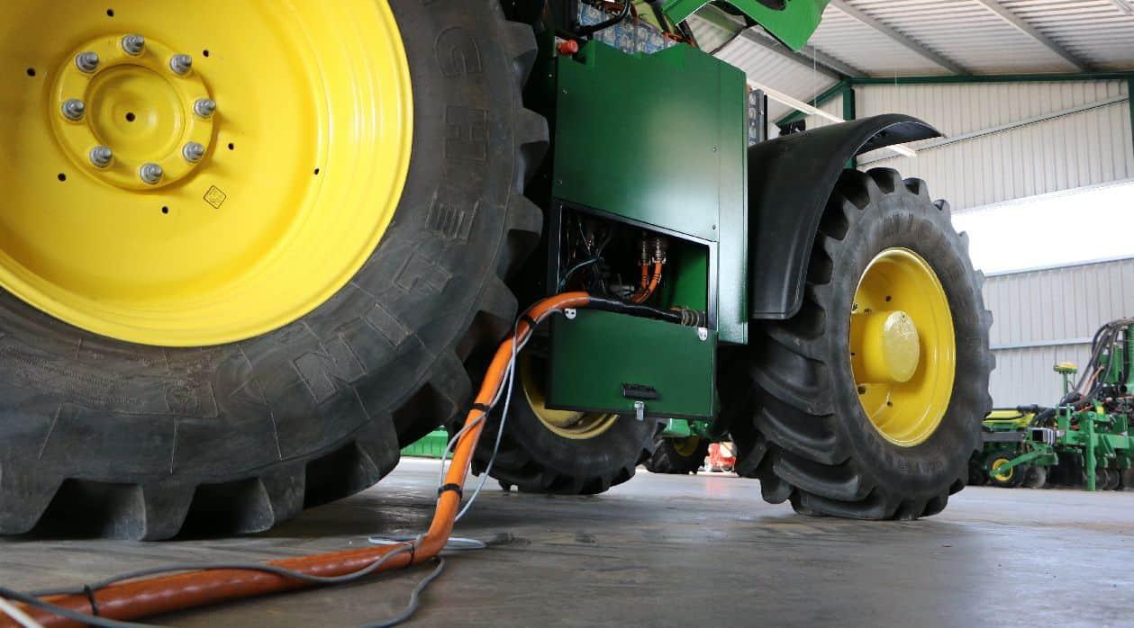 tracteur electrique autonomie recharge John Deere