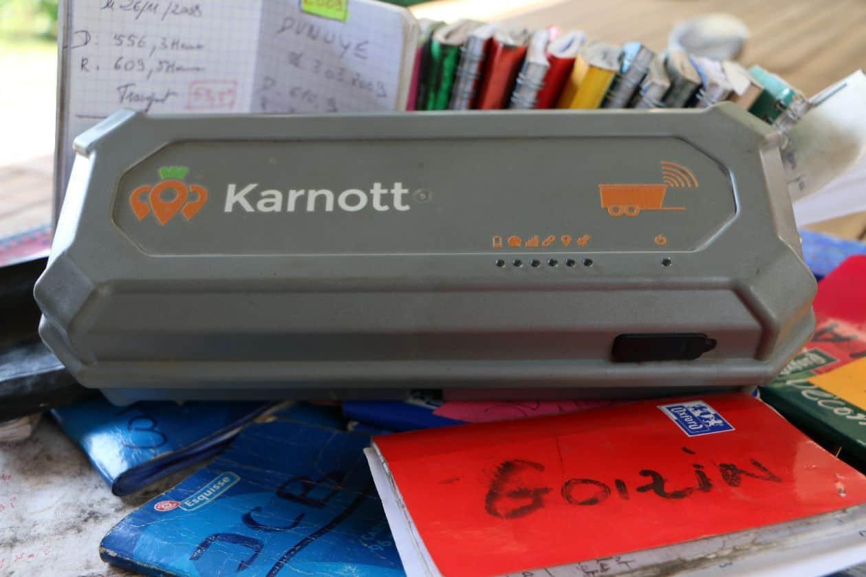 Karnott essai capteur materiel agricole