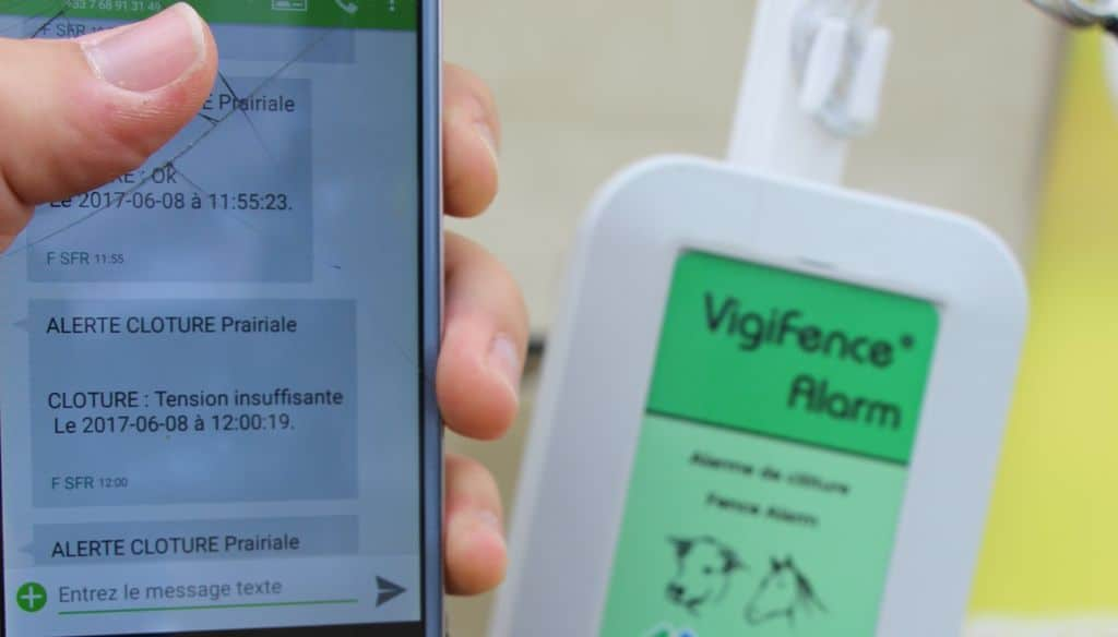 En cas de dysfonctionnement, l'éleveur reçoit sur son portable un SMS