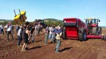 Belle participation en Haute-Loire pour les deux journées de démonstration de ramassage et broyage de pierres.