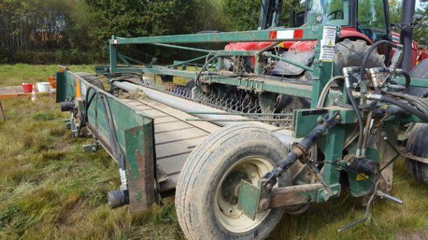 Andaineur attelé sur le 3 ème point du tracteur