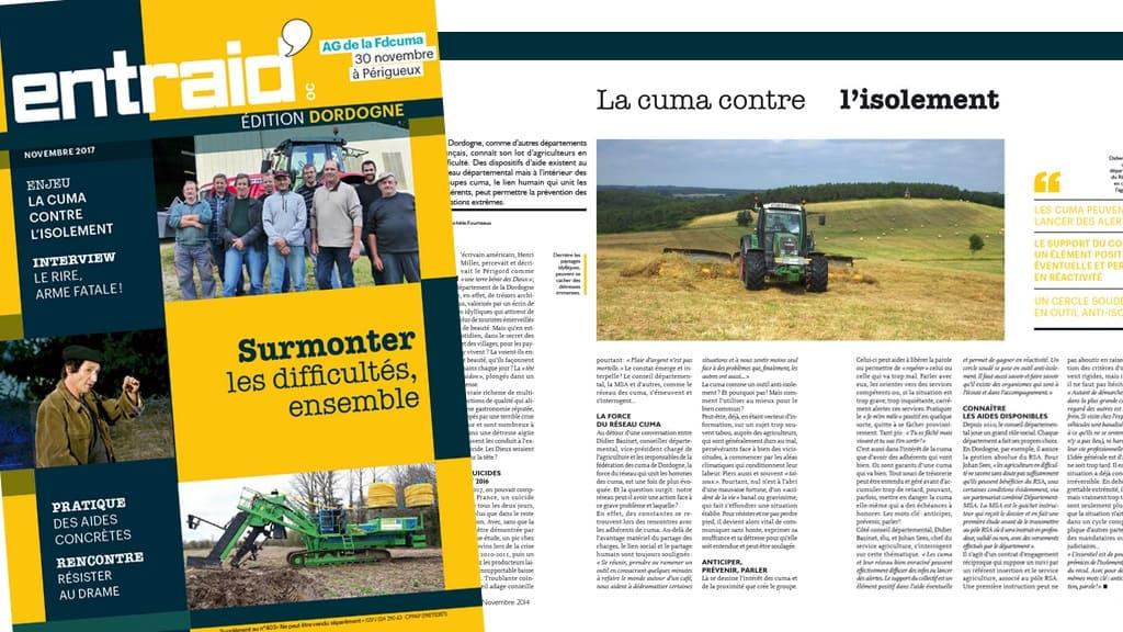 Dordogne Entraid spécial départemental paru en Novembre 2017.