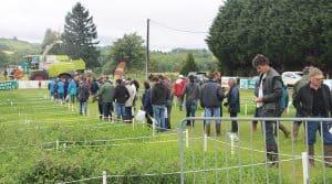 Démonstration lors de l'événement Mécafourrage 2017 : présentation et débat sur l'autonomie fourragère sur les exploitations en Corrèze. Fourrages.