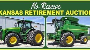 Matériel agricole aux enchères en raison du dépoart en retraite de l'agriculteur.