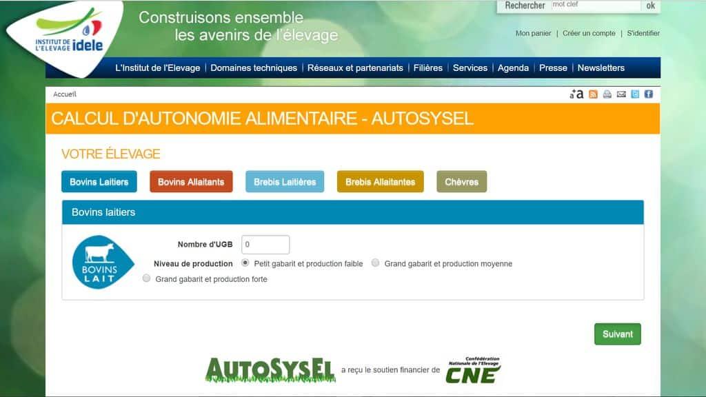 AutoSysel va proposer à partir d'un diagnostic de votre exploitation et de vos motivations, une sélection de fiches d'informations appropriées, puis des coordonnées de structure d'accompagnement