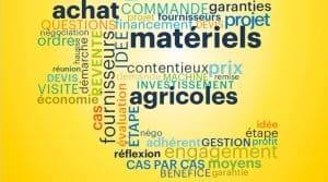 Dossier investissement matériels agricole