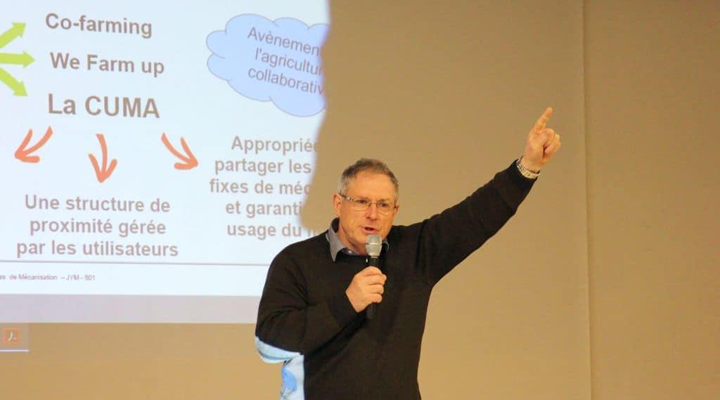 Jean-Yves Morice intervenait à l'Ag de l'UCPL72 charges de mécanisation