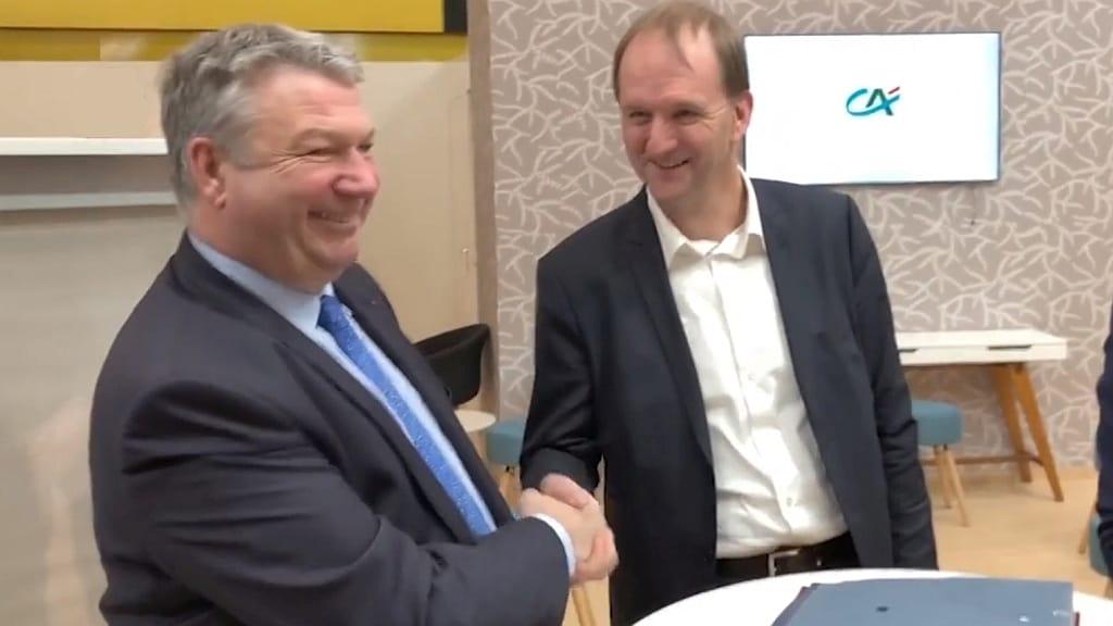 Dominique Lefèbvre, président de la Fédération nationale du Crédit Agricole, et Luc Vermeulen, président de la Fédération nationale des Cuma.