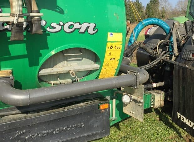 cuve à lisier tuyau de transfert