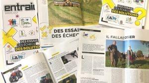 Couverture du magazine print Entraid février 2018 : essais, échecs et solutions pour les démarches collectives.