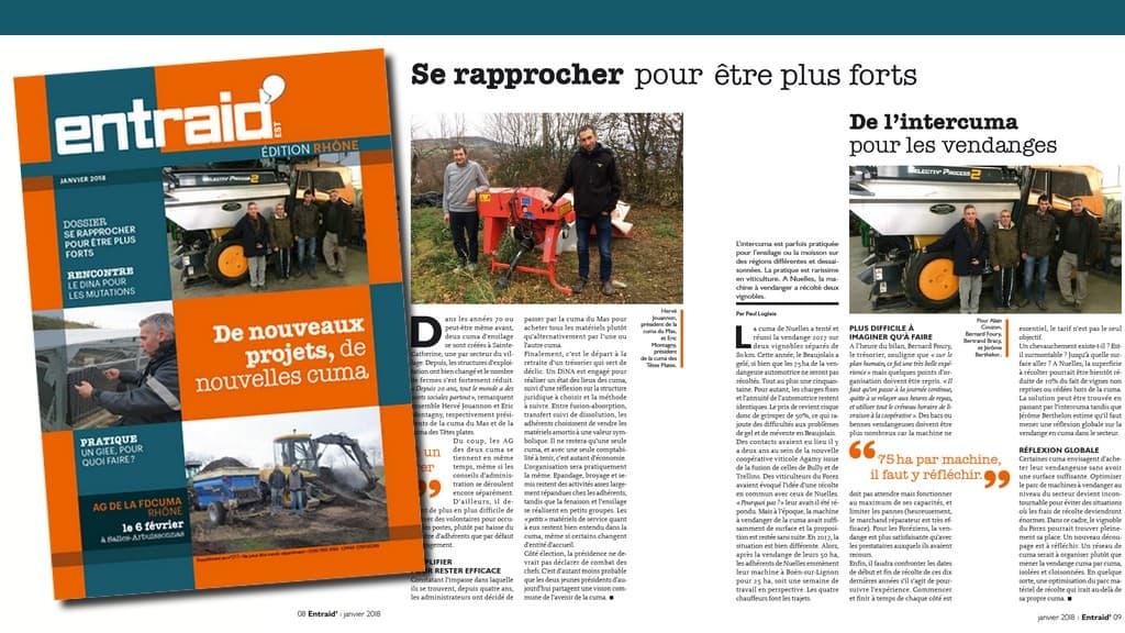 Rhône Entraid édition spéciale Rhône parue en janvier 2018